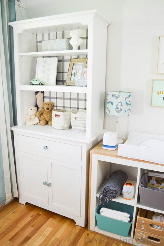 Up cycle an old dining hutch for the nursery