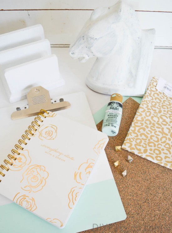 Thrift Store Office Supplies Inspiration Mood Board