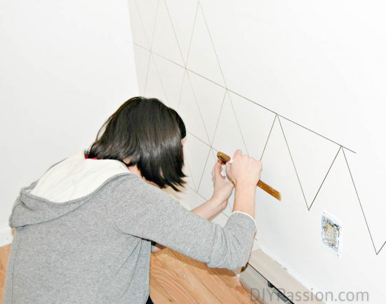 Create a Geometric Wall with a Sharpie