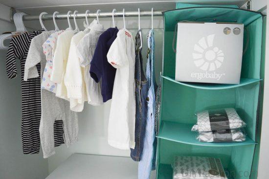 Gender Neutral Nursery Closet Organization