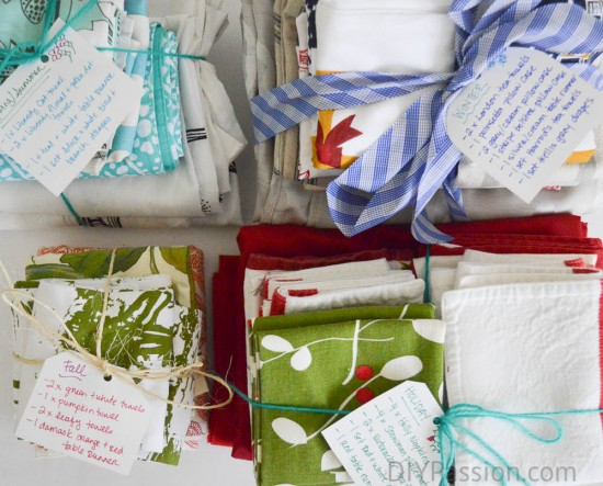 Categorize and label seasonal linens
