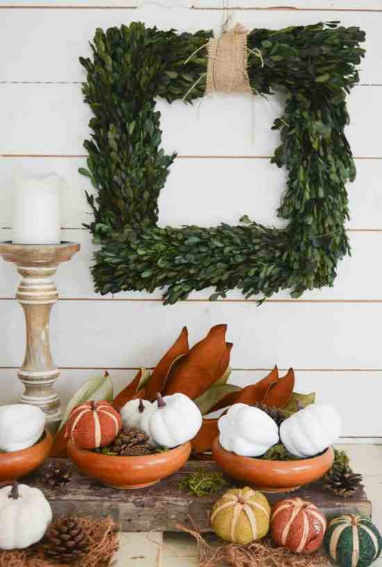 Highlight a Reclaimed Wood Centrepiece with Greenery