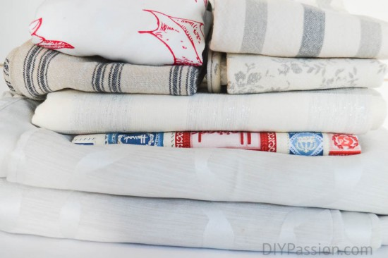 Organize your table linen by season