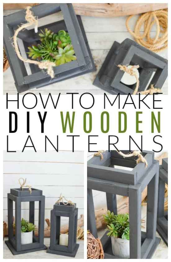 Brighten Up Your Decor With Diy Wooden Lanterns Diy Passion