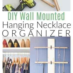 Hanging Necklace Organizer DIY