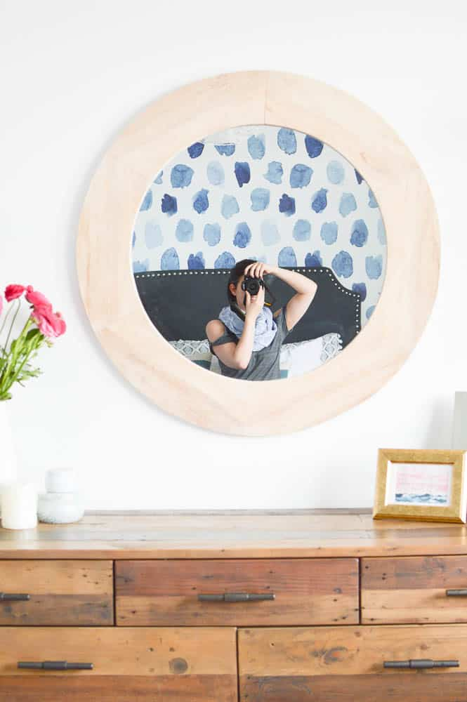 wood statement mirror