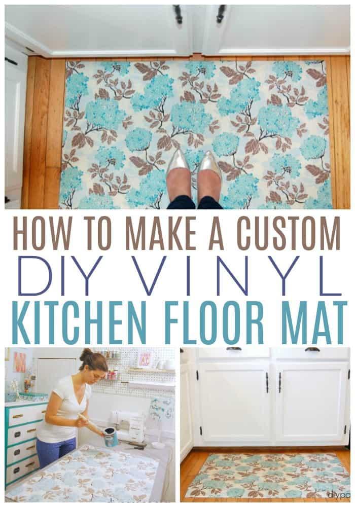 how to make a custom vinyl floor mat