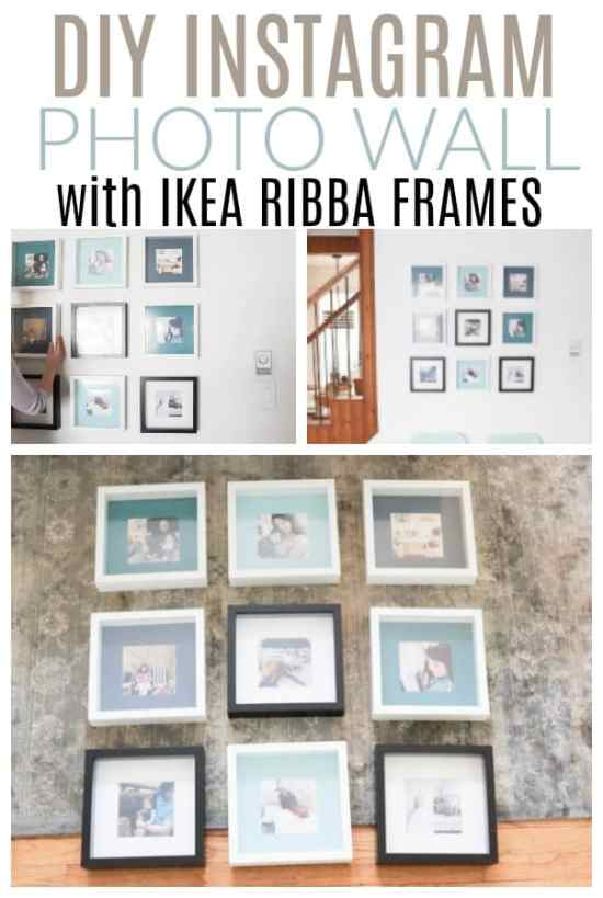 How to Hang an Instagram Photo Wall with IKEA Frames - DIY Passion