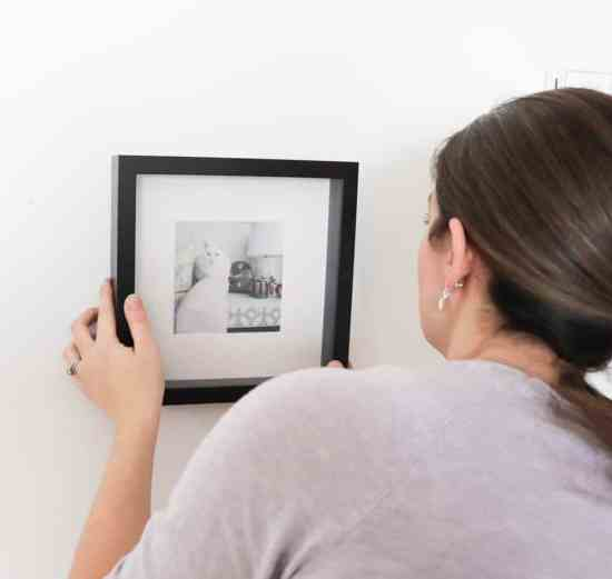 How to hang an Instagram Photo Wall