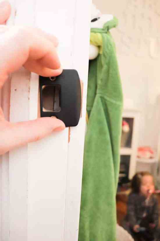 How to add a lock plate to a door jam