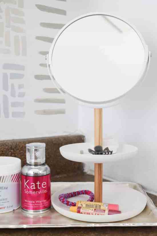 bathroom countertop organization