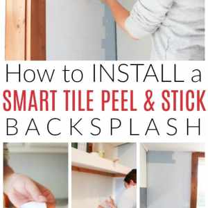 smart tile peel and stick backsplash