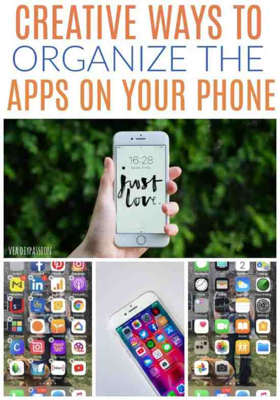 organize apps on your phone
