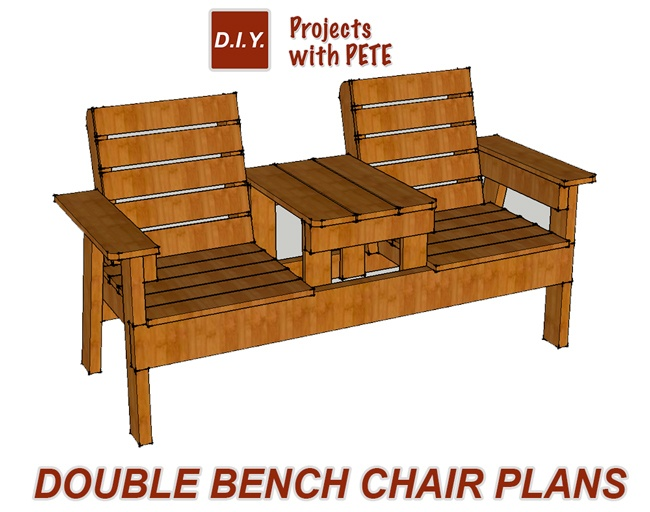 double rocking adirondack chair plans been bag free patio how to build a bench with table step 1 gather your materials