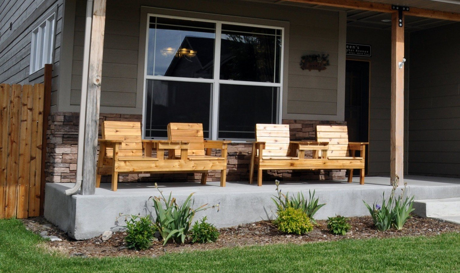 wood patio chair plans gray covers free how to build a double bench