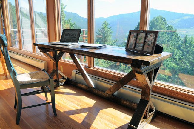 Learn how to build a desk with x supports and I beams for