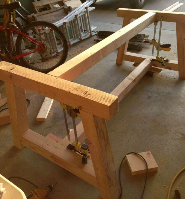 How to build a farm table with removable legs for Instructions on how to build a table