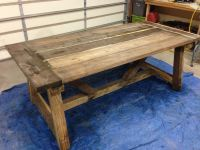 Homemade Rustic Tables