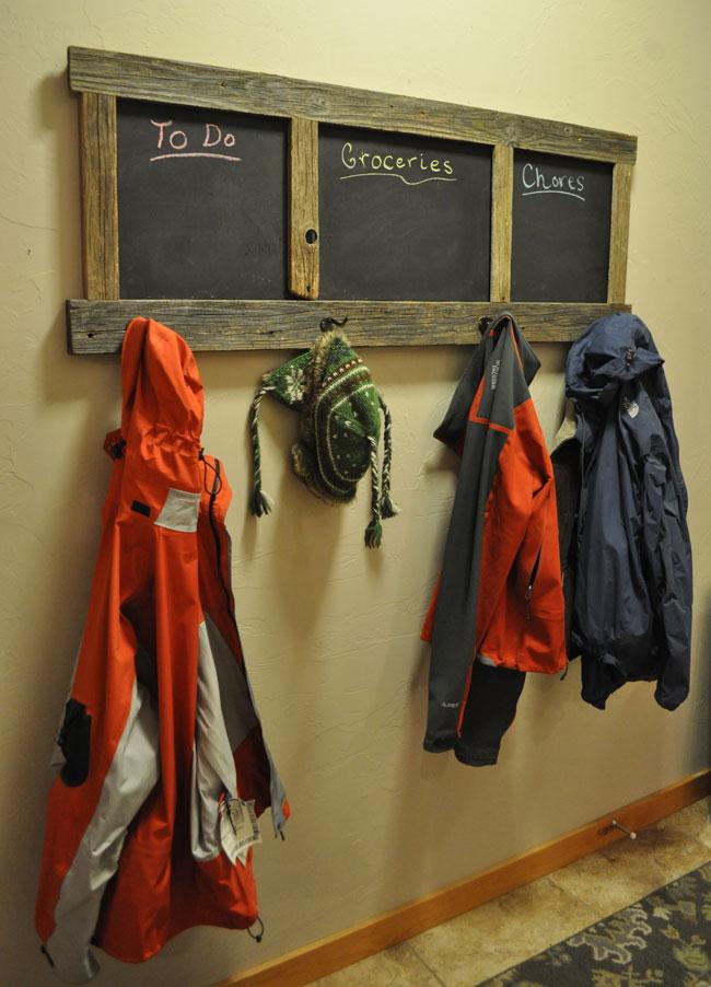Diy Chalkboard Coat Rack Project