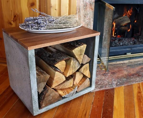 DIY Firewood Log Holder Indoor