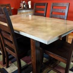 Concrete Kitchen Table White Chandelier Diy Dining Pete Project