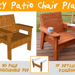 How To Make A Wooden Beach Chair Leather Chairs Of Bath Lansdown Diy Patio Plans And Tutorial Step By Videos Photos