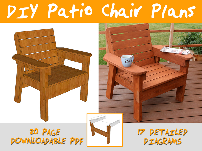 diy patio chairs table chair for kids plans and tutorial step by videos photos