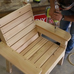 Wooden Lounge Chair Plans White Wood Rocking Diy Patio And Tutorial Step By Videos Photos Assembling Cedar Armrests Putty