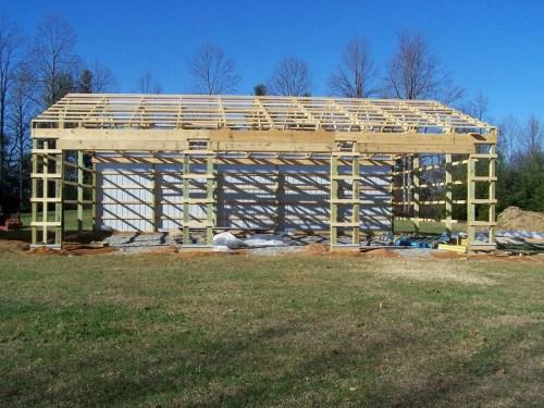 small resolution of pole barn framing
