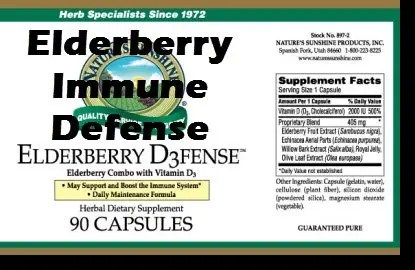 Elderberry D3fense from Nature Sunshine includes Vitamin D