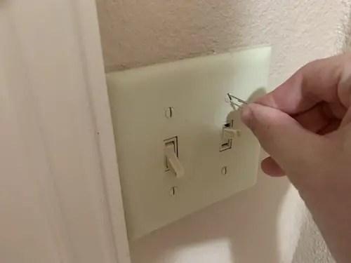 Paper clip as a screwdriver