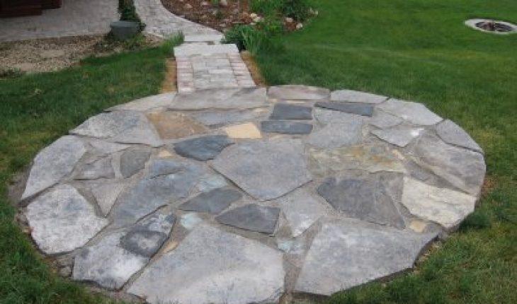 how to build a flagstone patio diy