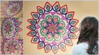 DIY Mandala Zentangle Wall Mural Doodle Art! For Your Room ...