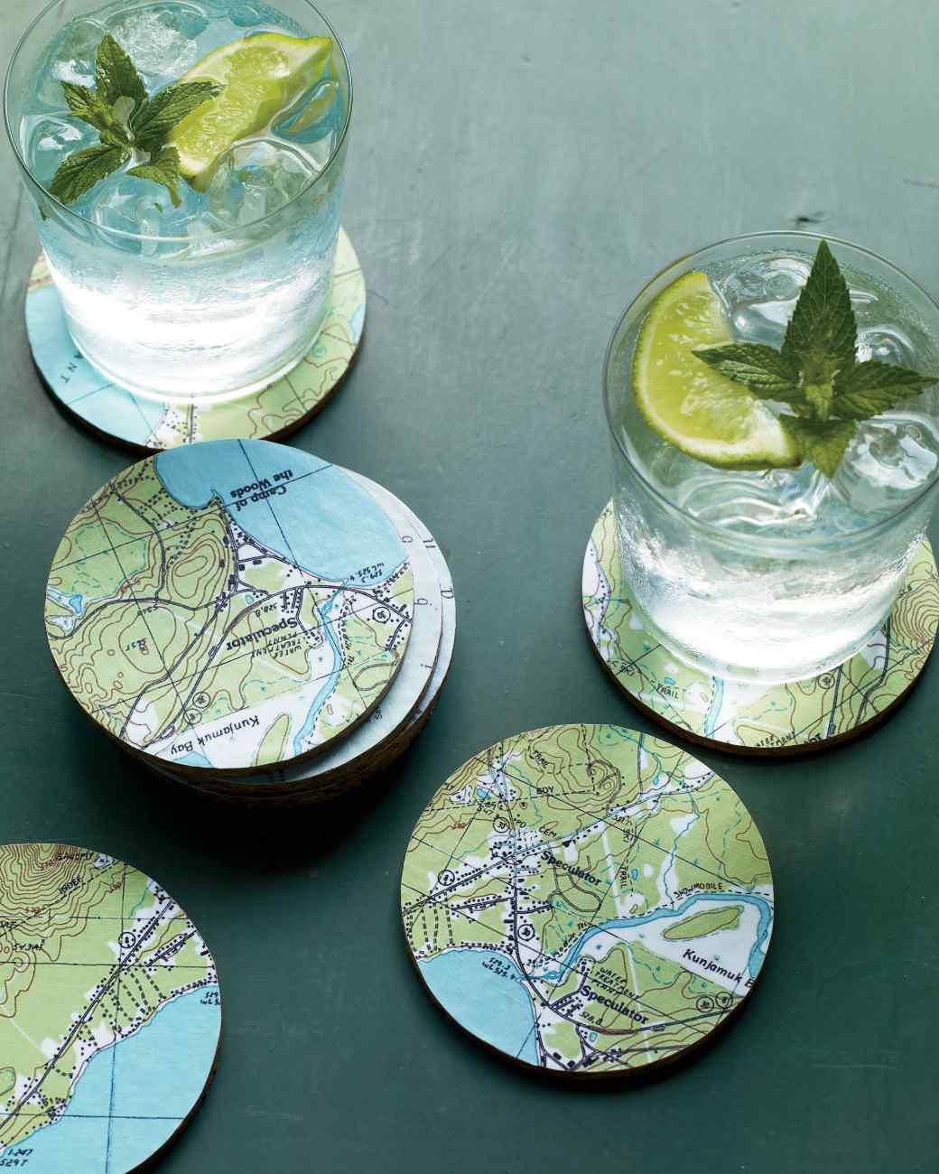 DIY Magnificent Map Coasters  DIY Scoop