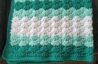 [Free pattern] Shells Stitch Baby Blanket
