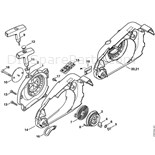 Stihl 019 T Chainsaw (019T) Parts Diagram, Handlebar