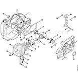 Stihl 032 AV Chainsaw (032AV) Parts Diagram, Crankcase