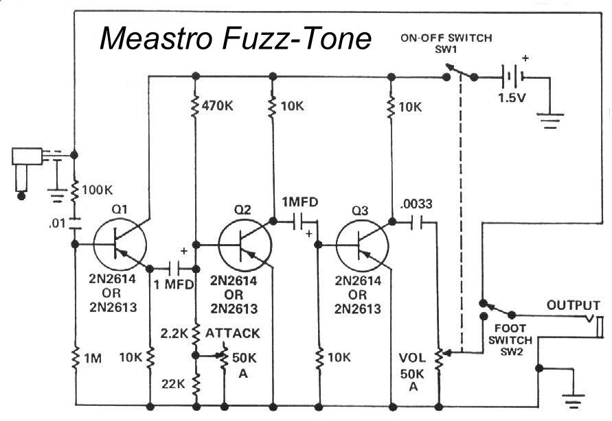 Anybody have a board layout for an old Maestro Fuzz Tone?