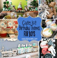 Baby boy first birthday themes ideas