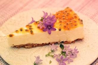 cheesecake passionsfrukt