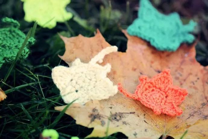 virka vackra löv