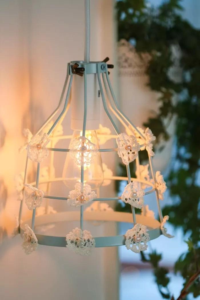 Diy: Lampa med spets
