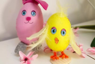 Påskägg - kyckling och hare