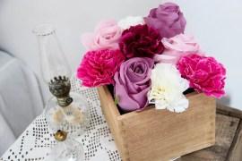 Blommkruka med kaffemålning