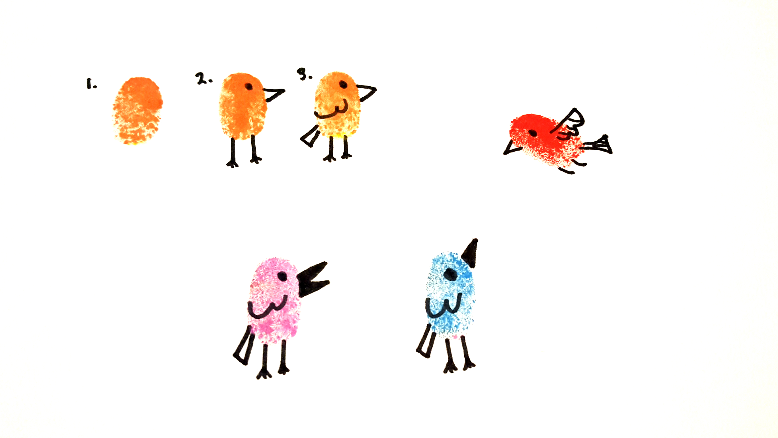 How To Make Fingerprint Birds