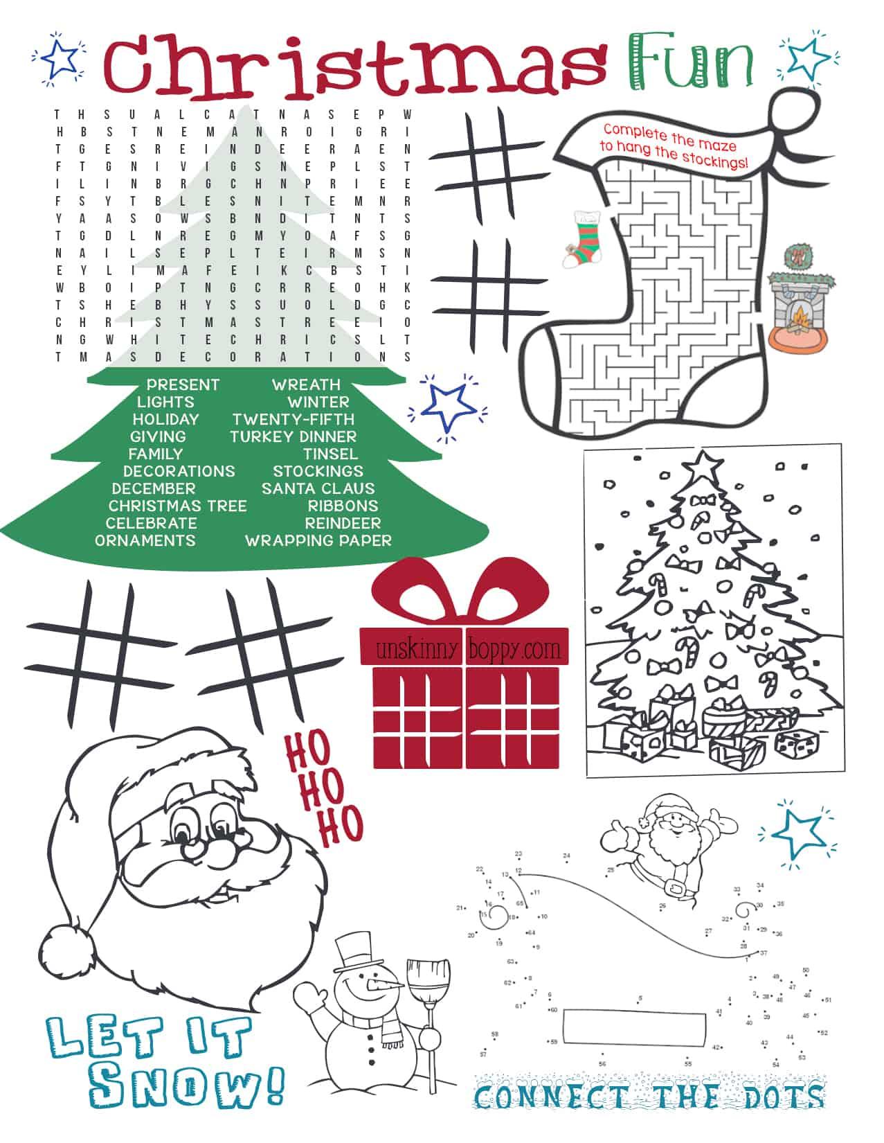 10 Free Kids Christmas Printables