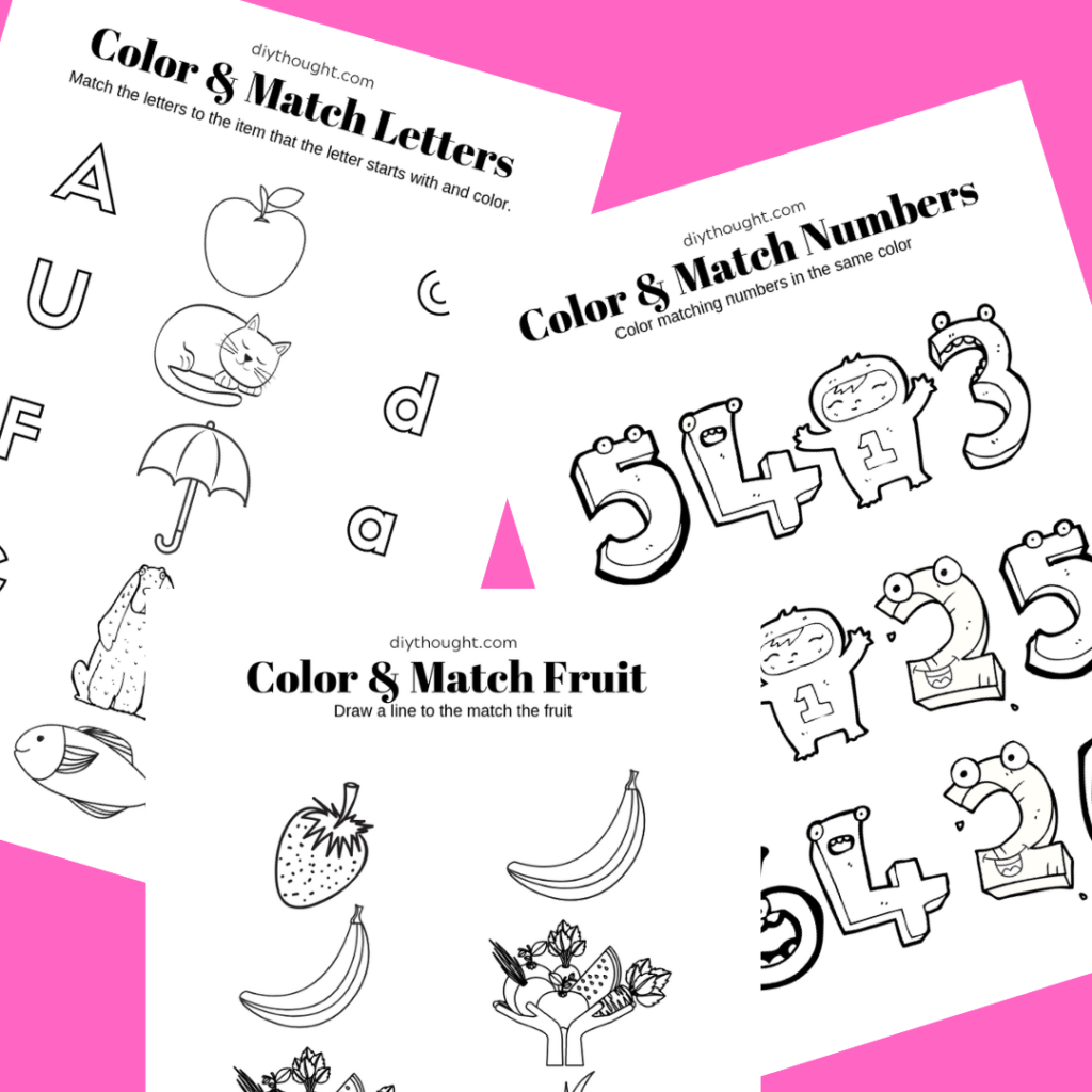 5 Free Color Amp Match Printable Worksheets