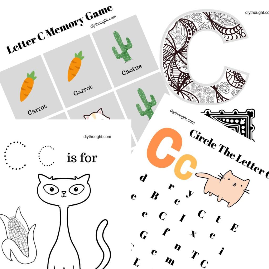 5 Letter C Printable Worksheets