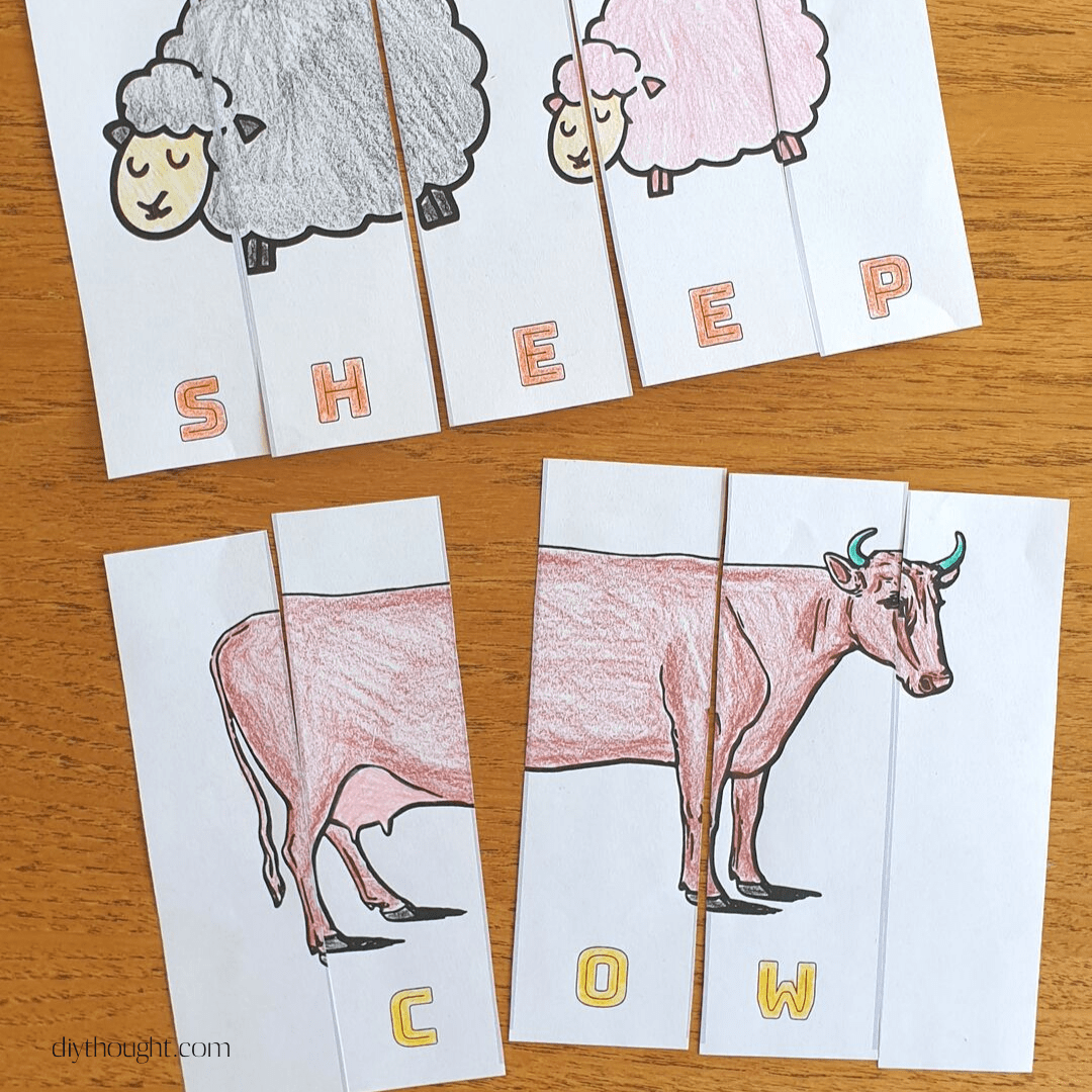 Farm Animal Learning Puzzles