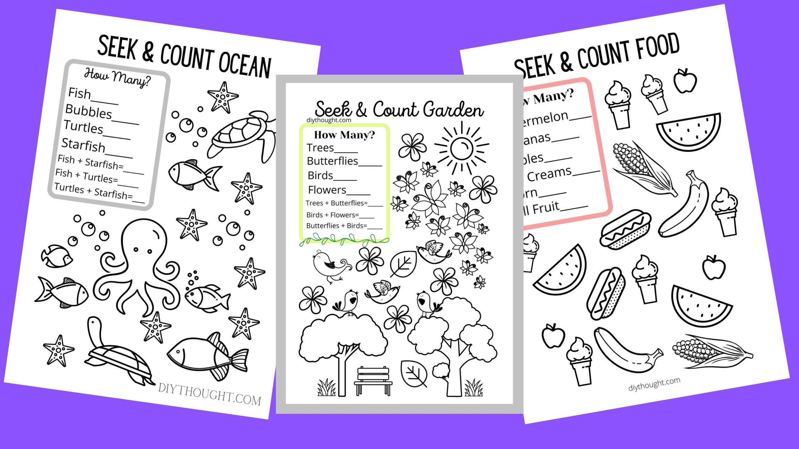 Free Seek Amp Count Printable Worksheets
